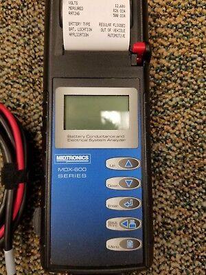 Midtronics MDX-650P Battery and Electrical System Analyzer with Built In Printer
