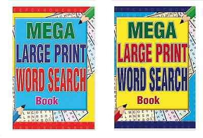 Set Of 2 Mega Large Print A4 Adult Wordsearch Books 216 Pages In Each Book 3180