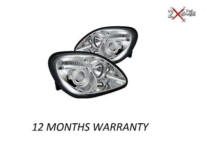 Mercedes Benz Slk R170 1996-2004 Chrome Led Halo Angel Eye Headlights E Marked