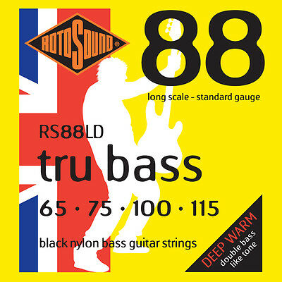 Rotosound RS88LD Black Nylon Tru Bass Long Scale Flatwound Electric Bass Strings