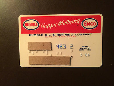 Humble Oil & Refining Company 1966 Vintage Collectors Credit Card