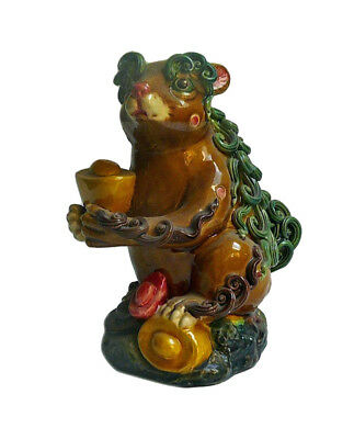 Chinese Color Ceramic Fortune Mouse Rat Figure cs602-2