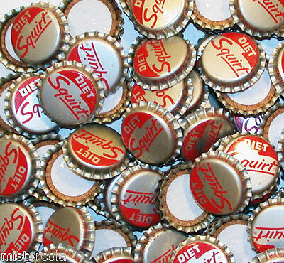 Soda pop bottle caps Lot of 25 DIET SQUIRT cork lined unused new old stock