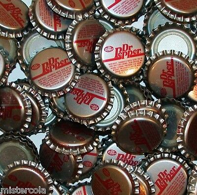 Soda pop bottle caps Lot of 25 DR PEPPER plastic lined unused new old stock