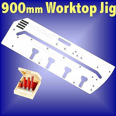 900mm Kitchen Worktop Jig and  4pc TCT Router cutter bit set template bedroom