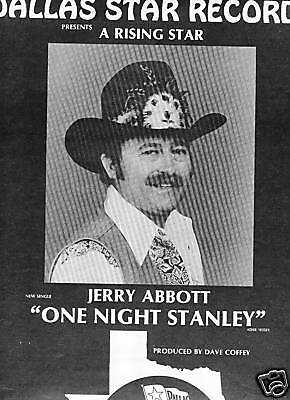 JERRY ABBOTT 1981 Promo Poster Ad Father of DIMEBAG DARRELL from PANTERA