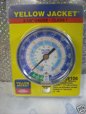 "Gauge Refrigeration 3-1/8 R22,134a,404a, -30"" to 350"
