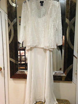 Mother of Bride Groom Women's Wedding jacket dress formal gown plus LXL1X2X3X