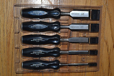 Tough Durable Alloy Steel Chisel Set Craftsman Made in USA Wood Hobbiest