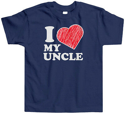 I Love My Uncle Kids TODDLER T-Shirt Tee Heart Family Tia Cute