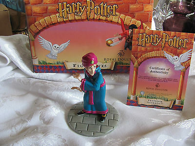 Royal Doulton Harry Potter Professor Quirrell new in box with COA 2001 HPFIG15