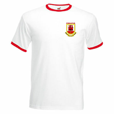 Gibraltar Retro Style National Football Team Soccer T-Shirt - All Sizes