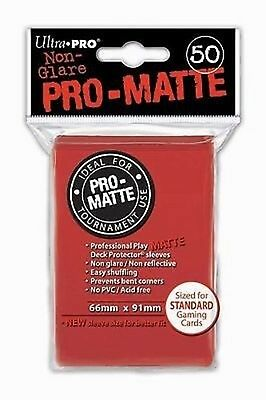 50 Bustine Protettive Ultra PRO Magic PRO MATTE Red Rosso Sleeves Buste 66x91