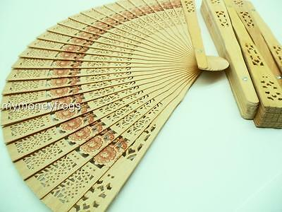 5x LOT Wedding Shower Favor Chinese Bridal Party Wood Folding Hand Summer Fan #F