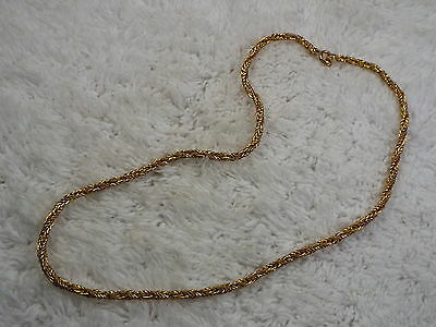 Goldtone Twisted Chain Necklace (A48)
