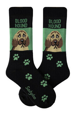 Bloodhound Socks Lightweight Cotton Crew Stretch Egyptian Made