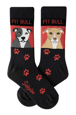 Pit Bull Socks Lightweight Cotton Crew Stretch Egyptian Made