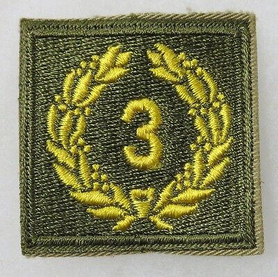 ORIGINAL Vintage 3rd AWARD U.S. ARMY MERITORIOUS UNIT CITATION SLEEVE PATCH