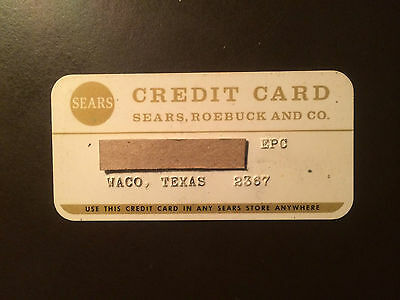 Sears, Roebuck and Company 1970's Vintage Collectors Credit Card - Waco, Texas