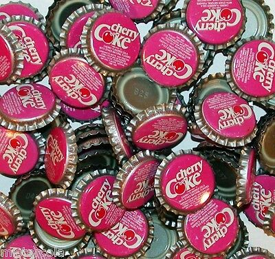 Soda pop bottle caps Lot of 25 CHERRY COKE plastic lined unused new old stock