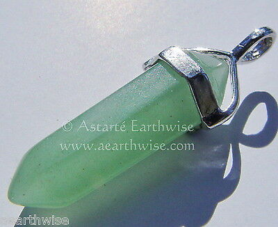 GREEN AVENTURINE PENDANT Wicca Witch Reiki Pagan Goth Punk ADVENTURINE