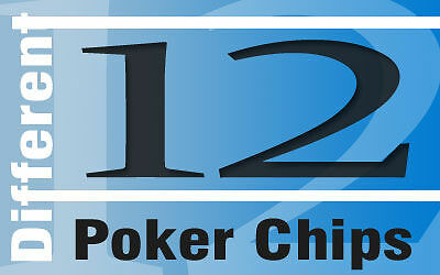 12 Poker Chips for Wall Displays or Collectors lot 27