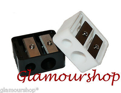 Royal Duo Cosmetic Pencil Sharpener Black or White NEW