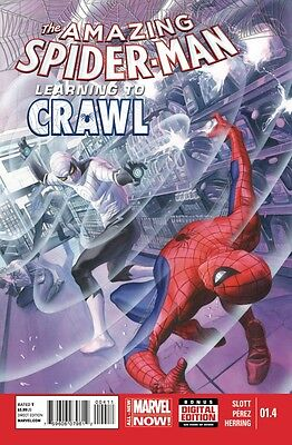 Amazing Spider-Man (2014) #1.4 Vf/nm Alex Ross Cover Learning To Crawl