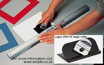 """Logan Picture Mount Cutter & 40"""" Rule - Team System 440-1  Bevel & Straight Cut"""