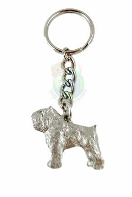 Bouvier Dog Fine Pewter Silver Keychain Key Chain Ring