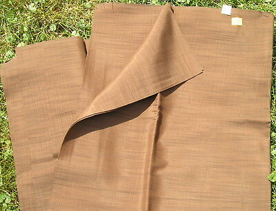 "Vintage Retro Brown Fabric 3 yards 27"" Old Boston Unused Store Stock 39 cents yd"