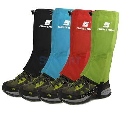 Men's Outdoor Hiking Walking Hunting Snow Snake Waterproof Boots Legging Gaiters