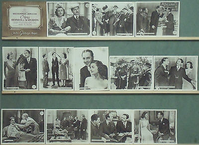 RB94 ANOTHER THIN MAN WILLIAM POWELL MYRNA LOY Lobby Set Spain