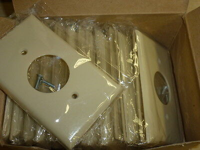 NOS! LOT of (22) EAGLE SINGLE RECEPTACLE, IVORY, SINGLE GANG WALL PLATE,