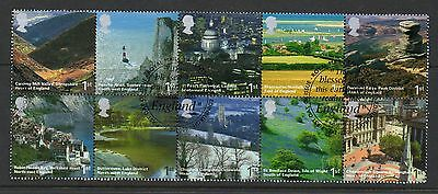 GB 2006 A British Journey, England fine used set stamps