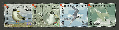 WWF WORLD WILDLIFE FUND CROATIA 2006 BIRDS STRIP 4v MNH