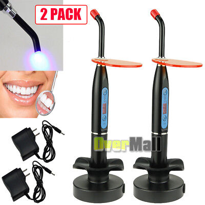 2 x NEW Dental 10W Wireless Cordless LED Curing Light Lamp 2000mw US SHIP