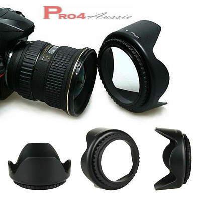 Hight Quality Flower Lens Hood 52mm 55mm 58mm 62mm 67mm 72mm 77mm AU LOCAL