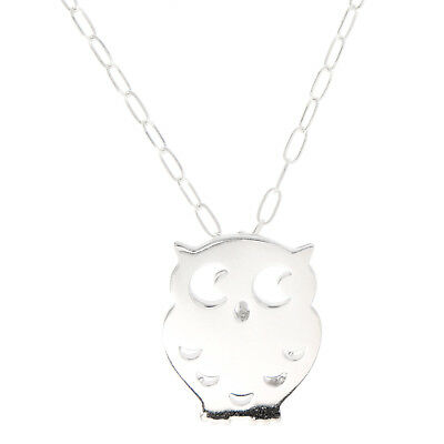 Sterling Silver Small Wise Owl Necklace
