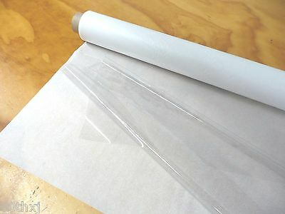 """SUPER CLEAR PLASTIC / VINYL SHEETING Great for WINDOWS   54""""x 20yds x 12mil"""
