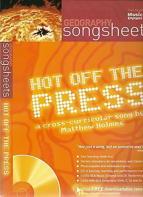 Hot Off The Press Geography Songsheets + Cd Song By Matthew Holmes