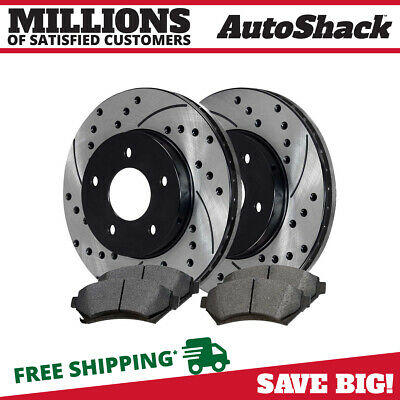 2 Brake Caliper For 08-13 14 Dodge Avenger Drilled Slotted Rotors Rear Set 2