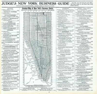 Judge's New York Business Guide Map Houses Business Firms Location Address