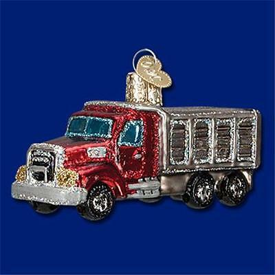 Dump Truck Old World Christmas Glass Construction Vehicle Ornament Nwt 46050