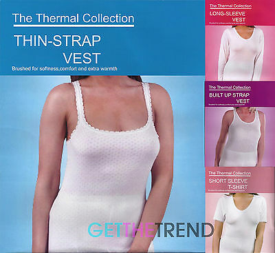 Womens Basic Winter Thermal Underwear Ladies Winter Warm Thermals Vest Trousers