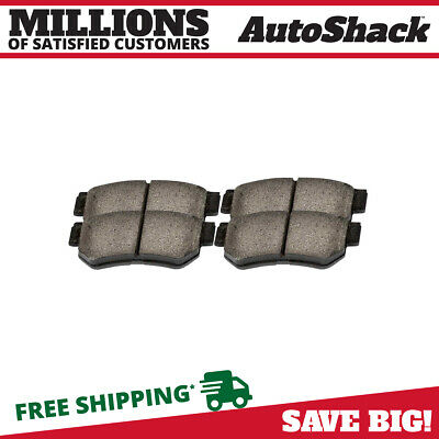NEW PREMIUM COMPLETE SET OF REAR CERAMIC DISC BRAKE PADS WITH SHIMS