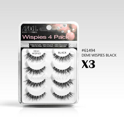 c97ef8cefc2 LOT 12 PAIRS ARDELL Demi Wispies Natural Multipack False Eyelashes ...