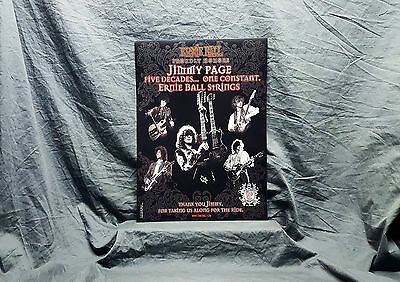 Led Zeppelin *Jimmy Page* Ernie Ball Promo Poster