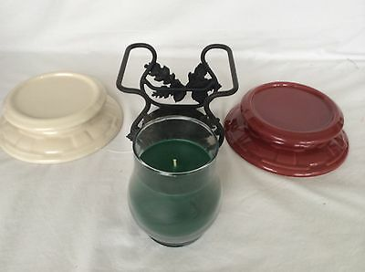 CHRISTMAS PINE Candle Jar & Wrought Iron or Pottery Holder Longaberger