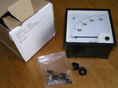 NEW - Weigel PQ96KL Analog Panel Meter Moving Coil 0-400 Volt = 0-20mA 685.130.9